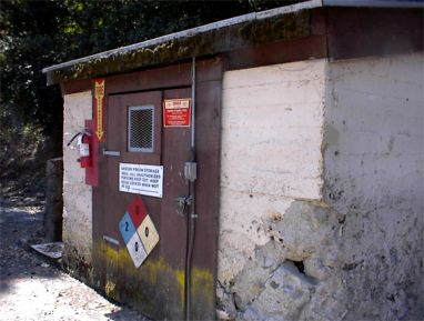 The Cur Chemical Storage Building In Maintenance Yard It Was Also Used To Pool Chemicals For Natatorium